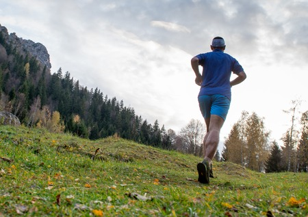 race in the middle of nature in autumn