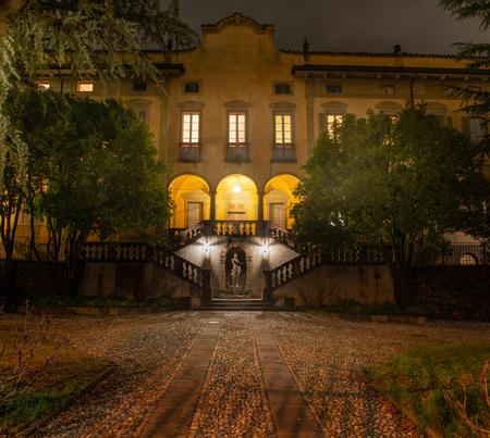 Ancient Villa illuminated night