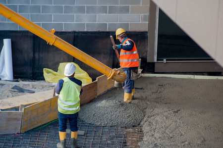 Workers to work with concrete