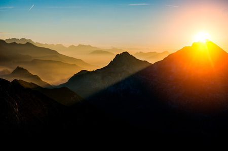 from the top of the mountain to watch the sunrise