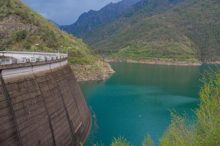 Valvestino dam basin for electricity production Banco de Imagens