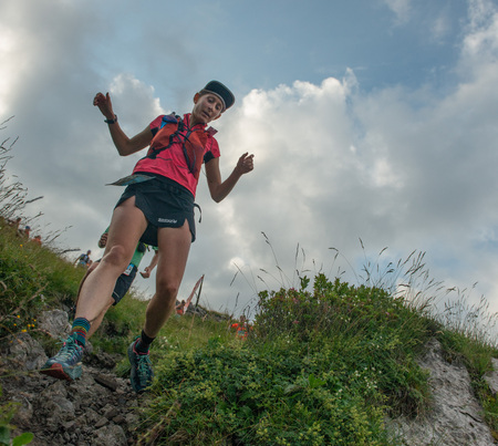 Serina Italia September 1st 2019: Extreme race for very physically prepared athletes on the crests of the orobic mountains. Long 50 kilometers with 5000 meters of elevation difference. Valid for the European championship 報道画像