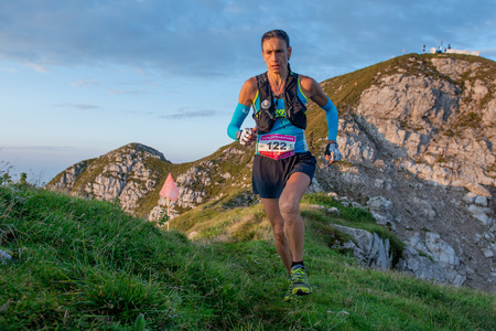 Serina Italia September 1st 2019: Extreme race for very physically prepared athletes on the crests of the orobic mountains. Long 50 kilometers with 5000 meters of elevation difference. Valid for the European championship Editorial