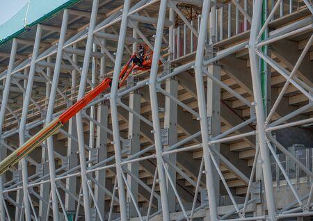 Tubes of the new Bergamo stadium
