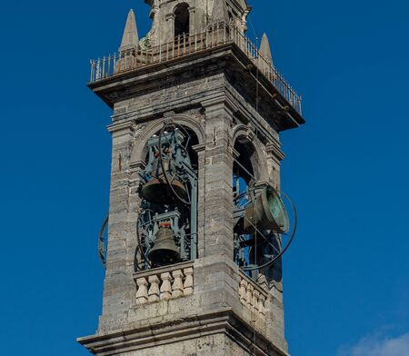 Bell tower with bell ringing Archivio Fotografico
