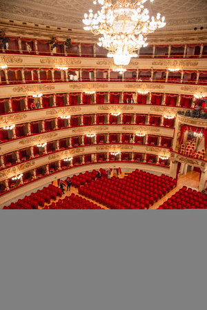 Milan Italy 14 July 2019: Teatro alla scala. Considered one of the most prestigious theaters in the world, it has hosted since 1778, the main artists in the international field of opera, and, more generally, of classical music, often commissioning works s