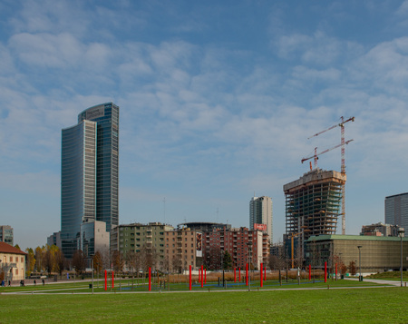 Milan Italy 4 December 2019:Palazzo Lombardia is a unitary complex of buildings, including a 161.3 meter high skyscraper.