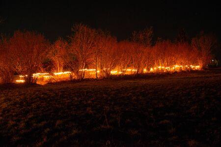Procession aux flambeaux de Noël à Serina