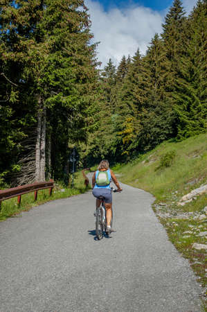 Bergamo Italy 4 July 2020: bicycle excursion on the road to Monte Arera Stock fotó