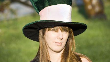 beautiful girl with big hat