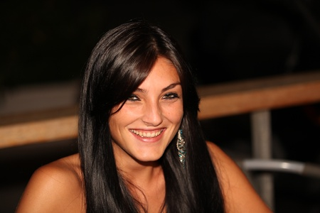 hair blacks: wonderful girl Stock Photo
