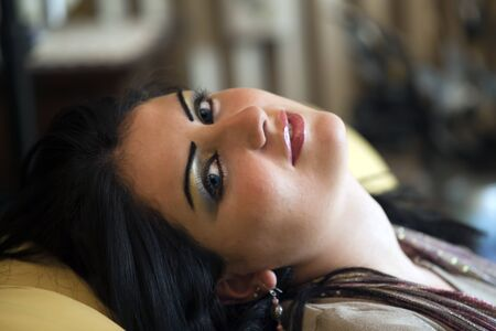 Mädchen aus libia Standard-Bild