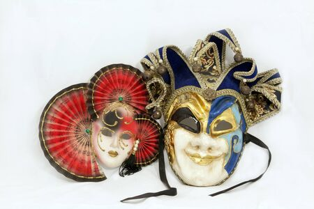 two carnival mask photo