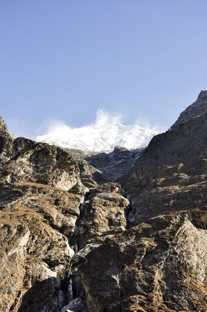 Mountains in Nepal Stock Photo