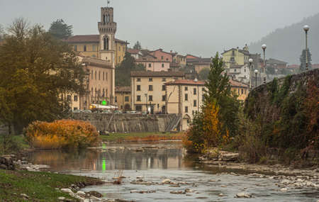 The small town of Santa Sofia situated in the valley of the Apennine Mountains. The river visible here is the Val. Bidente a paradise for fishermen.