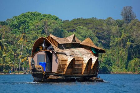 backwater: houseboat in kerala