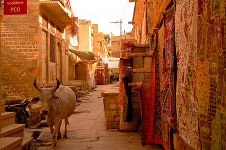 alejce: ulicy w jaisalmir Zdjęcie Seryjne