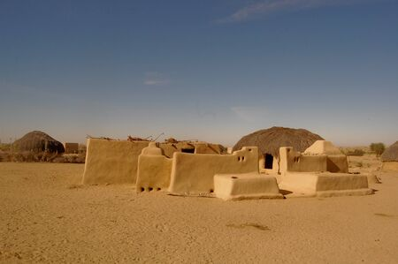 indian village: desert village in rajastan