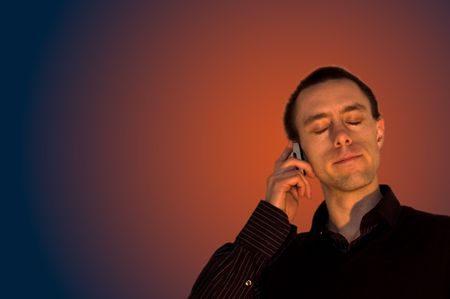 businessman waiting call: phone call