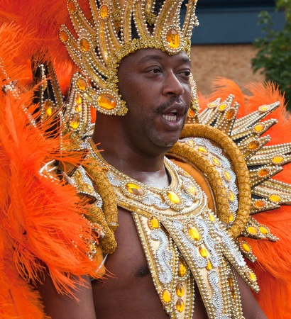 notting: Male performer in the 2009 Notting Hill Carnival
