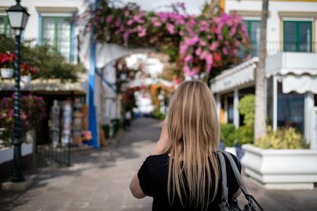 blonde girl in Puerto De Mogan