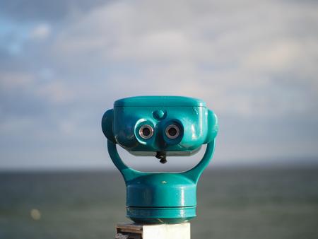 Binoculars at coast