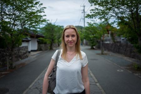 Porträt des Mädchens auf japanische Straße