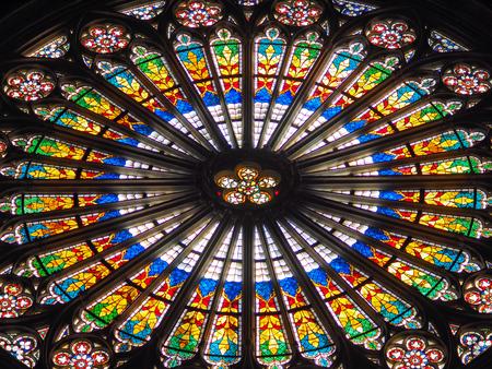window of Notre Dame Reklamní fotografie - 83497825
