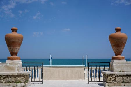 Trani view on coast