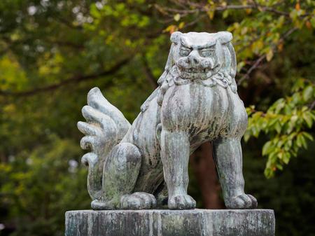 statue in Shitennoji temple Stock Photo