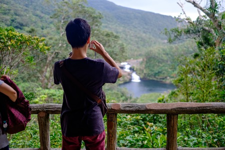 teen photographin the view on Iriomote Island