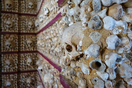 Skull Chapel in Faro Stock Photo