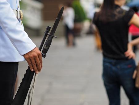 Guard with weapon Lizenzfreie Bilder