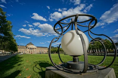 Wiesbaden Lampe und Casino Gebäude