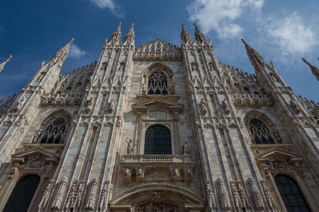 Front of Milan Cathedral