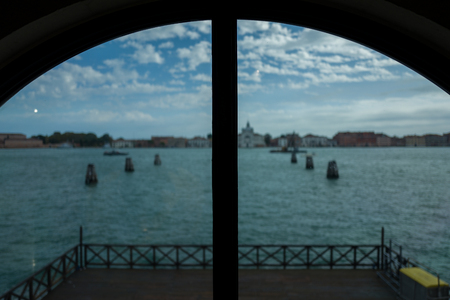 View through a window in Venice