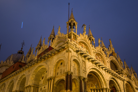 Venice Cathedral at night