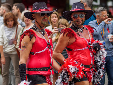 Frankfurt, - July 15: Unidentified people celebrate at the Christopher Street Day on July 15, 2017 in Frankfurt Editorial