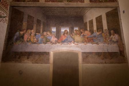 Milan - September 26: The famous last supper by Leonardo Da Vinci on September 26, 2017 in Milan