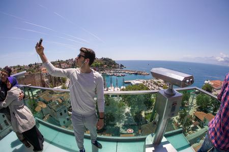 tourist taking photo in Antalya
