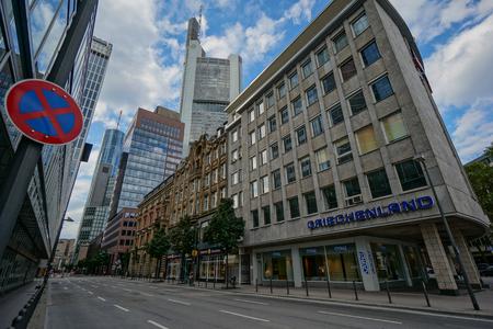 Frankfurt financial district Editorial