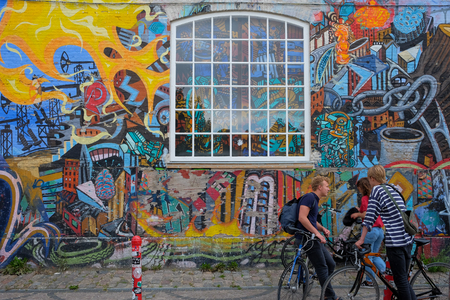graffiti on a building wall