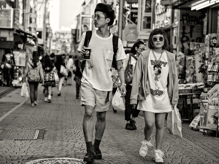 Couple in Japan Editorial