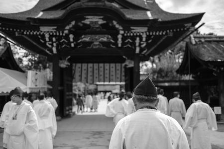 Men at Kitano Tenmangu Shrine