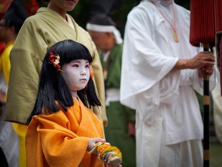 Children at Kitano Tenmangu Shrine Editorial