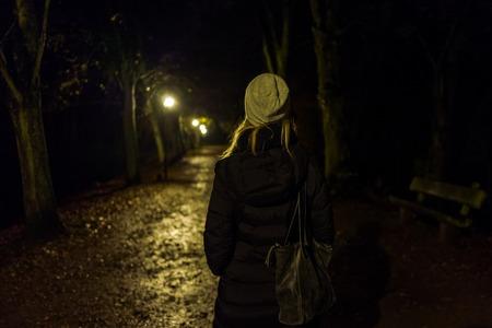 Blonde girl with cap in Kranichstein, Germany. Lizenzfreie Bilder