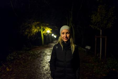 Blonde girl with cap in Kranichstein, Germany