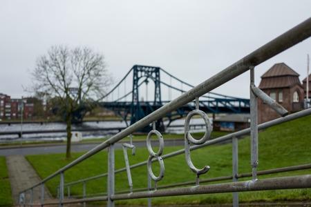 The Kaiser Wilhelm Bridge in Wilhelmshaven. Standard-Bild - 92436446