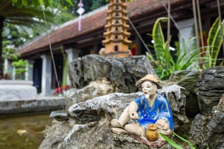 The Van Mieu Quoc Temple in Hanoi, Vietnam. Stock Photo