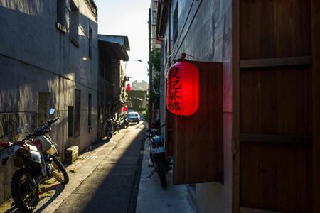 Red Lantern at sunset in Taipei, Taiwan.
